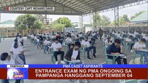 Entrance Exam ng PMA ongoing sa Pampanga hanggang September 04