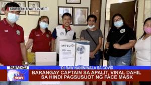 Barangay Captain sa Apalit, viral dahil sa hindi pagsusuot ng face mask