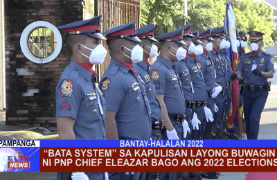 """""""BATA System"""" sa Kapulisan layong buwagin ni PNP Chief Eleazar bago ang 2022 Elections"""