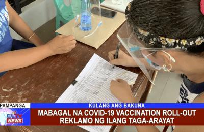 Mabagal na COVID-19 Vaccination roll-out reklamo ng ilang Taga-Arayat