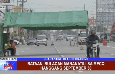 Bataan, Bulacan mananatili sa MECQ hanggang September 30