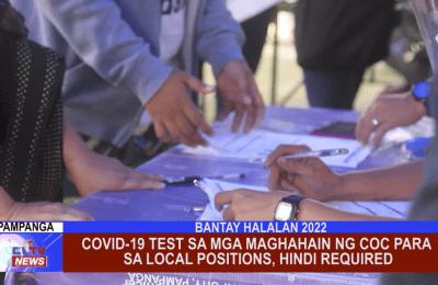 COVID-19 test sa mga maghahain ng COC para sa local positions, hindi required