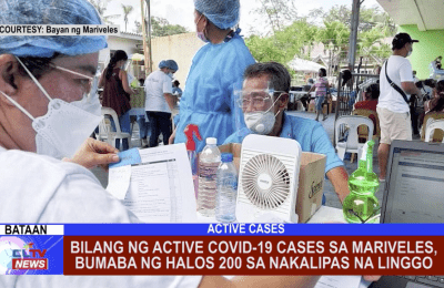 Bilang ng active COVID-19 cases sa Mariveles, bumaba ng halos 200 sa nakalipas na linggo