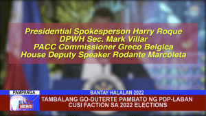 Tambalang Go-Duterte pambato ng PDP-Laban CUSI Faction sa 2022 elections