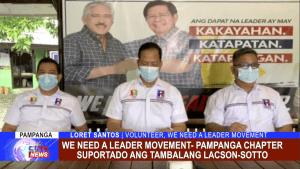 We need a leader movement- Pampanga chapter suportado ang tambalang Lacson-Sotto
