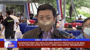 Pagpapatupad ng health and safety protocols sa mga election-related activity, sino ang dapat magmando?