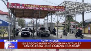 168 bagong kaso ng Covid-19 naitala sa Zambales sa loob lamang ng 2 araw