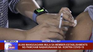 30,000 manggagawa mula sa member-establishments ng PAMCHAM nabakunahan na kontra Covid-19