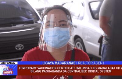 Temporary Vaccination Certificate inilunsad ng Mabalacat City bilang paghahanda sa Centralized Digital System