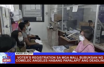 Voter's Registration sa mga mall bubuksan ng COMELEC Angeles habang papalapit ang deadline