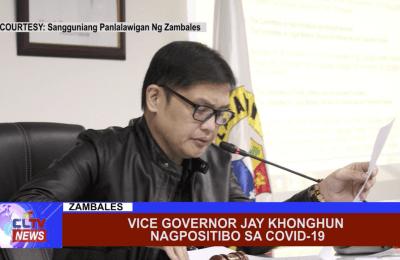 Vice Governor Jay Khonghun nagpositibo sa Covid-19