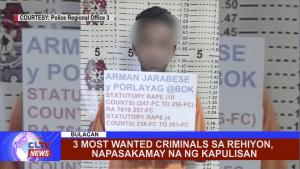 Matapos magtago ng ilang buwan, nasa kustodiya ng mga otoridad ang mga 3 most wanted criminal sa Central Luzon.