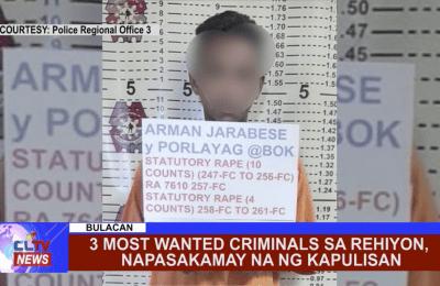 3 most wanted criminals sa rehiyon, napasakamay na ng kapulisan
