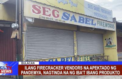 Ilang firecracker vendors na apektado ng pandemya, nagtinda na ng iba't ibang produkto