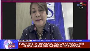 Soroptimist International patuloy na nakaagapay sa mga kababaihan sa panahon ng pandemya