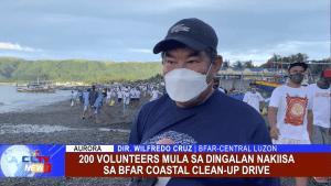 200 Volunteers mula sa Dingalan nakiisa sa BFAR Coastal clean-up drive