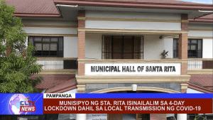Munisipyo ng Sta. Rita isinailalim sa 4-day lockdown dahil sa local transmission ng Covid-19