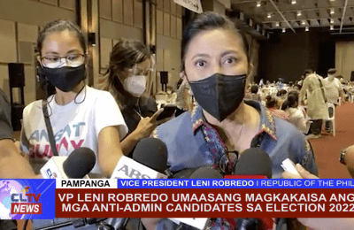 VP Leni Robredo umaasang magkakaisa ang mga Anti-Admin Candidates sa 2022