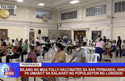Bilang ng mga fully-vaccinated sa San Fernando, hindi pa umabot sa kalahati ng populasyon ng lungsod