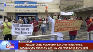 Alegasyon ng korapsyon sa covid-19 response, makabagong mukha ng Martial Law ayon sa St. Scho Nuns