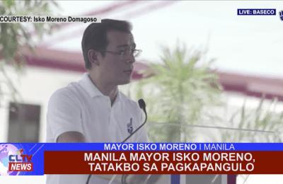 Manila Mayor Isko Moreno, tatakbo sa pagkapangulo