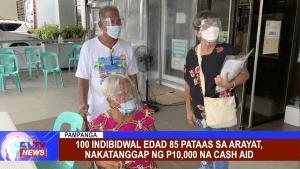 100 indibidwal edad 85 pataas sa Arayat, nakatanggap ng P10,000 na cash aid