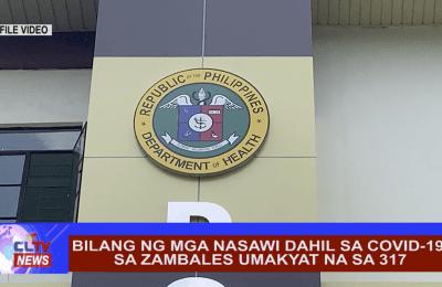 Bilang ng mga nasawi dahil sa covid-19 sa Zambales umakyat na sa 317