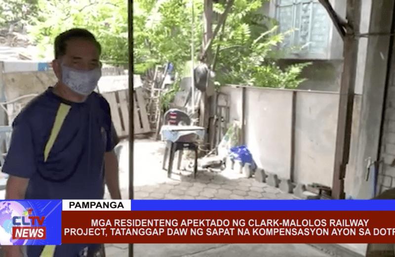 Mga residenteng apektado ng Clark-Malolos Railway Project sa Pampanga, tatanggap daw ng sapat na kompensasyon ayon sa DOTR