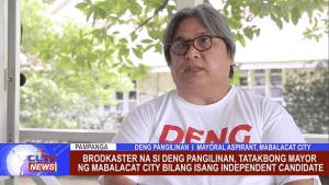 Brodkaster na si Deng Pangilinan, tatakbong Mayor ng Mabalacat City bilang isang Independent Candidate