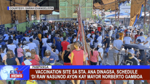 Vaccination Site sa Sta. Ana dinagsa, schedule 'di raw nasunod ayon kay Mayor Norberto Gamboa