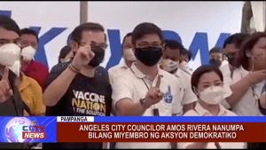 Angeles City Councilor Amos Rivera nanumpa bilang miyembro ng Aksyon Demokratiko