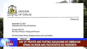 Day of Prayer and Fasting isasagawa ng Simbahan upang hilingin ang pagtatapos ng pandemya