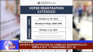 Voter's Registration sa COMELEC magpapatuloy simula Oct. 11 hanggang Oct. 30