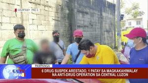 6 drug suspek arestado, 1 patay sa magkakahiwalay na anti-drug operation sa Central Luzon