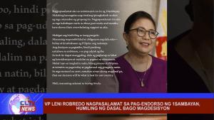 VP Leni Robredo nagpasalamat sa pag-endorso ng 1Sambayan, humiling ng dasal bago magdesisyon
