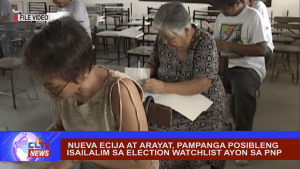 Nueva Ecija at Arayat, Pampanga posibleng isailalim sa election watchlist ayon sa PNP