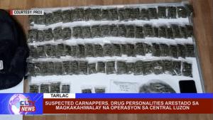 Suspected carnappers, drug personalities, arestado sa pagkakahiwalay na operasyon sa Central Luzon