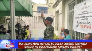Ika-limang araw ng filing ng COC sa COMELEC-Pampanga dinagsa ng mga kandidato, taga-suporta