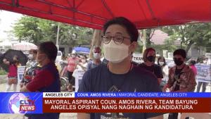 Mayoral aspirant Coun. Amos Rivera, Team Bayung Aopisyal nang naghain ng kandidatura