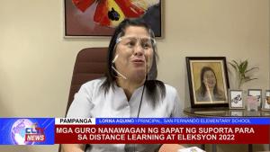 Mga guro nanawagan ng sapat ng suporta para sa distance learning at eleksyon 2022