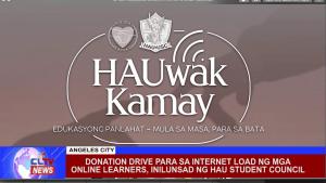 Donation drive para sa internet load ng mga online learners, inilunsad ng HAU student council