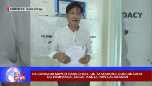 EX-Candaba Mayor Danilo Baylon tatakbong gobernador ng Pampanga, sugal kanya raw lalabanan