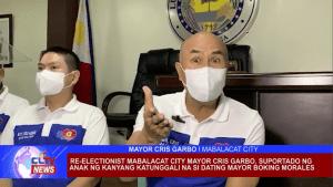 Re-electionist Mabalacat City Mayor Cris Garbo, suportado ng anak ng kanyang katunggali na si dating Mayor Boking Morales