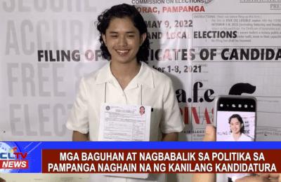 Mga baguhan at nagbabalik sa politika sa pampanga naghain na ng kanilang kandidatura