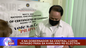 6 na gobernador sa Central Luzon tatakbo para sa kanilang re-election