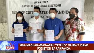 Mga magkakamag-anak tatakbo sa iba't ibang posisyon sa Pampanga