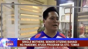 Single mothers, senior citizens bahagi ng pandemic ayuda program sa Sto. Tomas