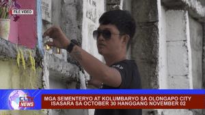 Mga sementeryo at crematorium sa Olongapo City isasara sa October 30 hanggang November 02