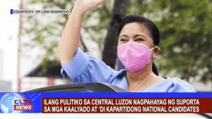 Ilang pulitiko sa Central Luzon nagpahayag ng suporta sa mga kaalyado at 'di kapartidong national candidates