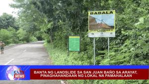 Banta ng landslide sa San Juan Baño sa Arayat, pinaghahandaan ng lokal na pamahalaan
